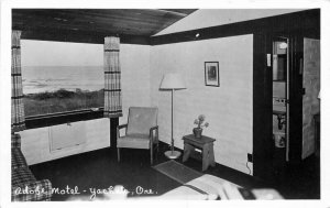 Yachats Oregon Adobe Motel 1961 RPPC Photo Postcard 21-4522