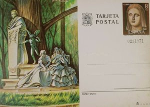 Vintage Collectible Post Card Monumento a Becouer Sevilla