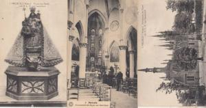 Melsele Flanders Belgium Our Lady Of Gaverland Chapel Religious 3 Old Postcard s