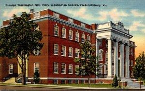 Virginia Fredericksburg George Washington Hall Mary Washington College
