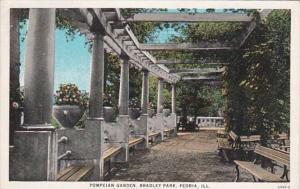 Illinois Peoria Pompeian Garden Bradley Park Curteich