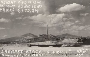 RP: ANACONDA , Montana , 1940s ; Largest Stack in the World , Mining