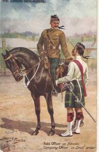 Hary Payne. Officer in Horse. The Gordon Highlnders Tuck Oilette PC # 9884