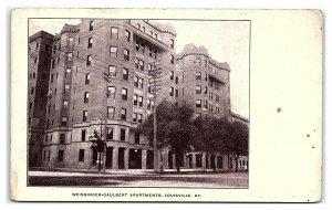 Weissinger-Gaulbert Apartments, Louisville, KY Postcard *7C(2)2