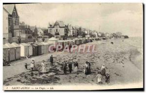 Old Postcard Saint Aubin Beach