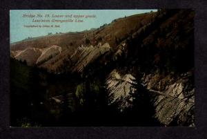 ID Bridge No. 19  Lewiston Grangeville Railroad Train Line Idaho Postcard RR PC