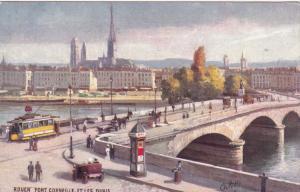 ROUEN,  France, 1900-10s; Pont Corneille Et Les Quais; TUCK # 11