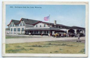Burlington Railroad Cody Inn Cody Wyoming 1920s postcard