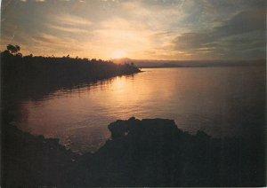 Postcard Rwanda Lac Kivu sunrise aspect