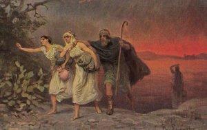 Man & 2 women , 00-10s ; Bible scene