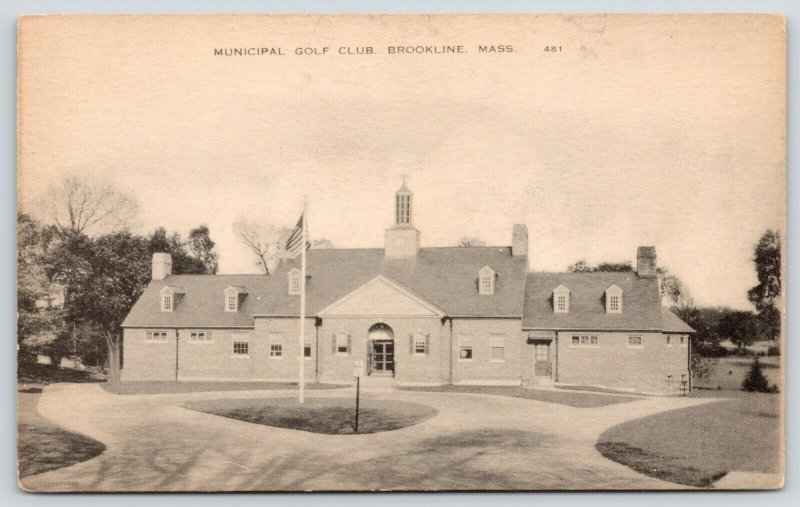 Brookline Massachusetts~Circular Drive~City Golf Club~Thin Cupola~Flag Pole~1935