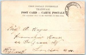 JEPPESTOWN, JOHANNESBURG South Africa    MARSHALL STREET Scene  1900s   Postcard