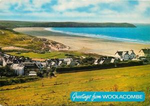Woolacombe, United Kingdom UK Sands & Baggy Point Devon Postcard
