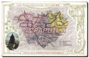 Postcard Old MAPS Chocolaterie d & # 39Aiguebelle Haute Loire St Michel Chate...