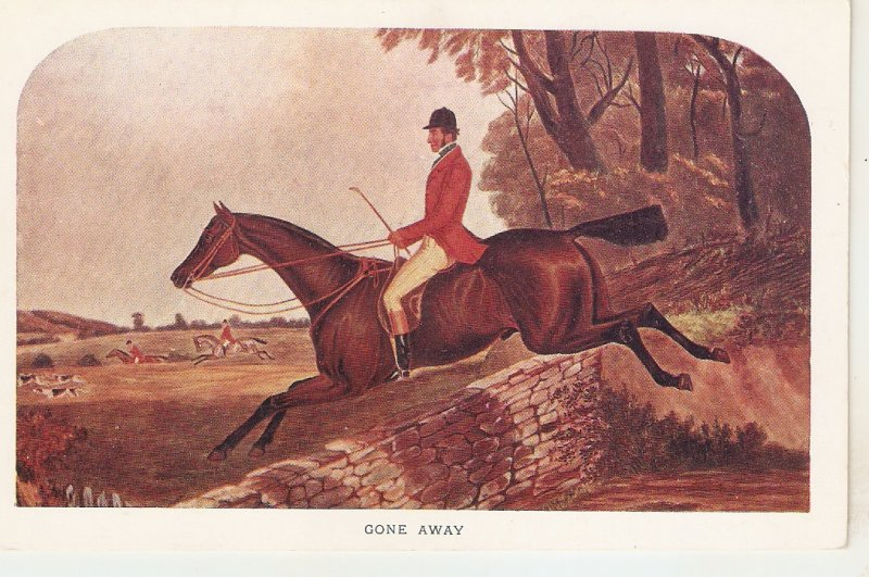 Gone Away. Horse Nice vintage English postcard