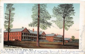 LP59  Sault Ste. Marie   Michigan  Postcard Fort Brady Copper Windows