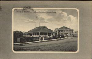 Monument Beach MA Stearns Club & Post Office c1910 Postcard