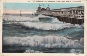 California Long Beach The Breaakers and Pleasure Pier 1927