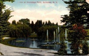 New York Syracuse Scene At Onondaga Park 1915