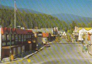 Canada British Columbia Kimberley City Hall & Spokane Street & Shops ...