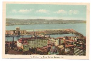 Quebec Le Port Harbour Harbor Postcard