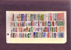 (100) Different Used Stamps of Canada