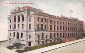 Post Office Building, Tacoma, Washington, Early Postcard, Used in 1910