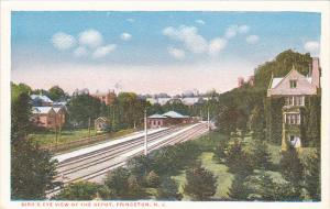 Birds Eye View Of Railroad Depot Princeton New Jersey