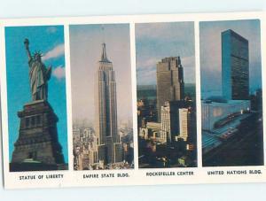 Unused Pre-1980 FOUR VIEWS ON CARD New York City NY ho7940