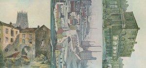Bradford Canal Basin Market 3x Painting Postcard s