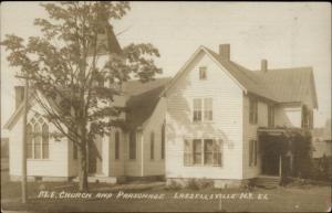 Lassellsville NY Church & Parsonage c1910 Real Photo Postcard