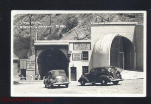 RPPC BINGHAM COPPERFIELD TUNNEL UTAH 1930's CARS TUNNEL REAL PHOTO POSTCARD