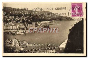 Postcard Old French Riviera Alpes Maritimes Nice Entrance of the Port and Mon...