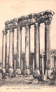 Vue des deux Temples Baalbek, Syria , Syrie Turquie, Postale, Universelle, Ca...