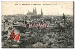 Old Postcard Panorama of Clermont Ferrand