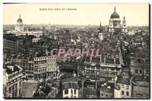 Old London Postcard Birds Eye View