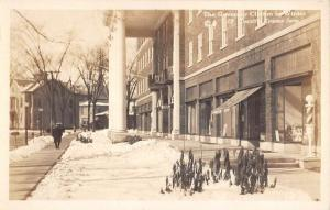 Woodstock New York Governor Clinton Winter Real Photo Antique Postcard K101185
