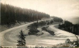 1940s Berthoud Pass Colorado Switchbacks Sanborn RPPC Real photo postcard 11422