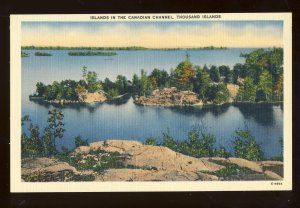 Thousand Islands, New York/NY Postcard, Islands In The Canadian Channel