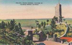 Will Rogers Memorial on Cheyenne Mt. - Colorado Springs, Colorado Linen
