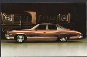 Classic Car Dealer Postcard 1973 PONTIAC Luxury LeMans 4-Door Colonnade Hardtop
