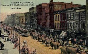 Summit St.Parade Circus Day Toledo OH 1915