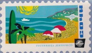 Russia Socchi Intourist Hotel Vintage Luggage Label sk1455