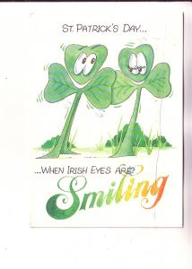 St Patrick's Day, When Irish Eyes Smiling, Prepaid Postage From Ireland