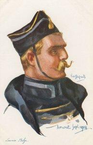 Military Soldier Head Portrait by Em. DUPUIS , WWI (1914-1918) ; #19