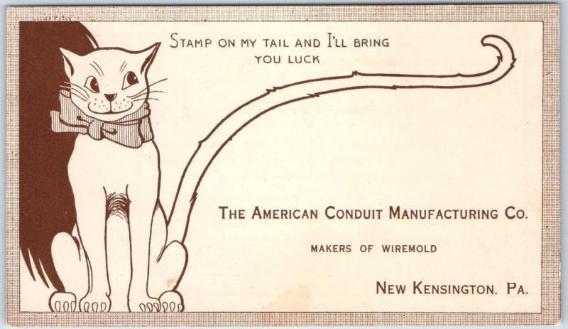 1917 New Kensington, Pennsylvania Postcard AMERICAN CONDUIT MANUFACTURING Cat