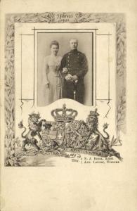 netherlands, Queen Wilhelmina & Prince Henry of Mecklenburg-Schwerin (1901)