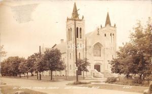 <A11> MICHIGAN Mi Real Photo RPPC Postcard c30s IRON MOUNTAIN Catholic Church