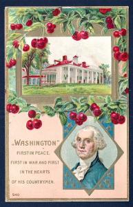 Washington's Birthday Mt Vernon VA used c1910