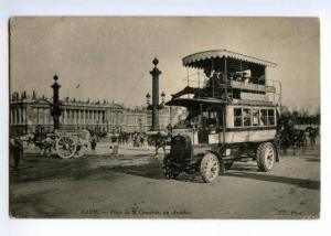 147608 France PARIS Autobus Double-decker Bus ADVERTISING OLD